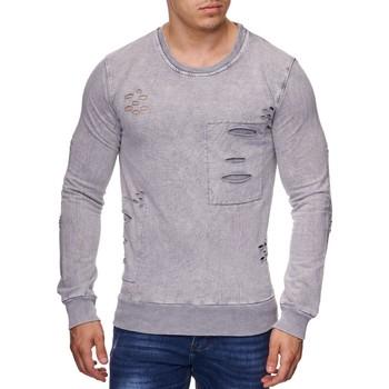 Vêtements Homme Pulls Violento Pull déchiré pour homme Pull 775 gris clair Gris
