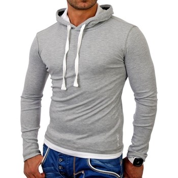 Vêtements Homme Sweats Monsieurmode Sweat capuche sport homme Sweat TZ1003 gris Gris