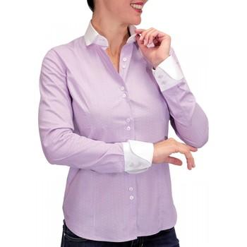 Vêtements Femme Chemises manches longues Andrew Mc Allister chemise a col blanc coventry parme Parme