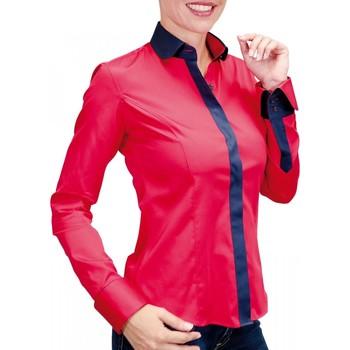 Vêtements Femme Chemises manches longues Andrew Mc Allister chemise bicolore napoli rouge Rouge