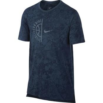 Vêtements Homme T-shirts manches courtes Nike T-shirt  Swoosh Arch Bleu H bleu