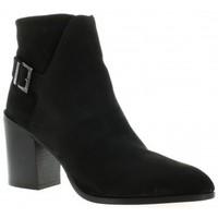 Chaussures Femme Bottines Elizabeth Stuart Boots cuir velours Noir