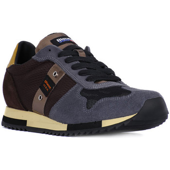 Chaussures Homme Baskets basses Blauer QUINCY DARK BROWN Marrone