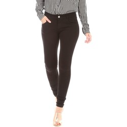 Vêtements Femme Chinos / Carrots La Modeuse Pantalon noir stretch uni coupe slim Noir