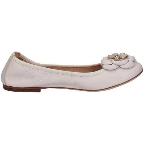 Chaussures Fille Ballerines / babies Florens F9018 blanc