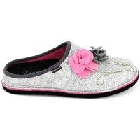 Chaussures Femme Chaussons Fargeot Shannon Gris Rose Gris