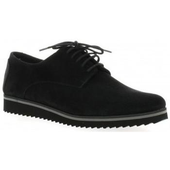 Chaussures Femme Derbies Elizabeth Stuart Derby cuir velours Noir