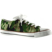 Chaussures Femme Baskets basses Angkorly - Baskets - camouflage Vert