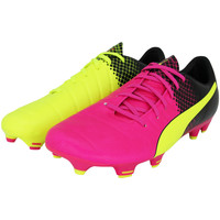 Chaussures Homme Football Puma EVOPOWER 3.3 FG S TRICKS Chaussures de Football Homme Noir Rose multicolore