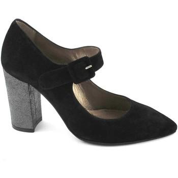 Chaussures Femme Escarpins Melluso E5042 chaussures femme noire dcollet bout boucle sangle TCCO Nero