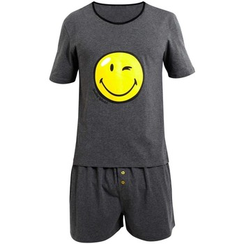 Vêtements Homme Pyjamas / Chemises de nuit Smiley Pyjama Manches courtes Happy Night by