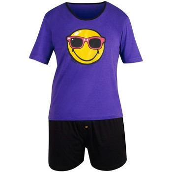 Vêtements Homme Pyjamas / Chemises de nuit Smiley Pyjama court Purple Night by