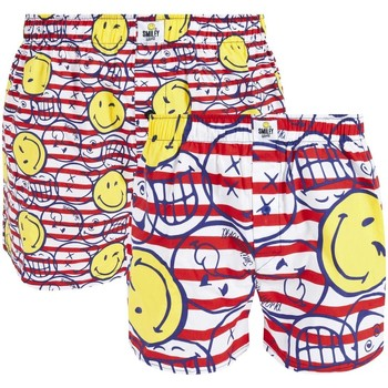 Vêtements Homme Boxers / Caleçons Smiley Lot de 2 boxers Marine by