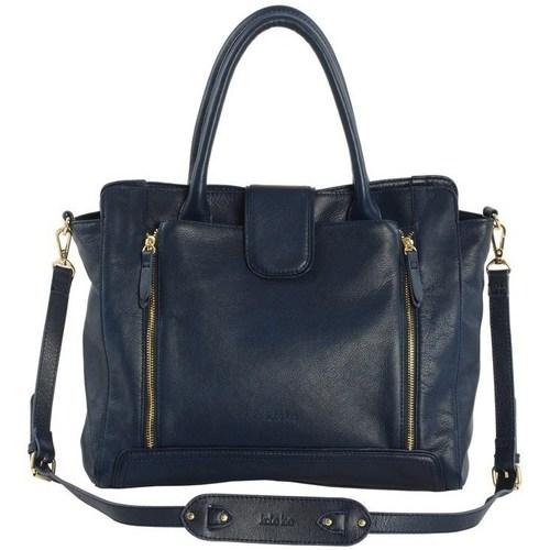 Sacs Femme Cabas / Sacs shopping Kate Lee sac a main en cuir femme KELYA Bleu