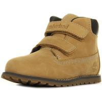 Chaussures Garçon Boots Timberland Pokey Pine Wheat beige