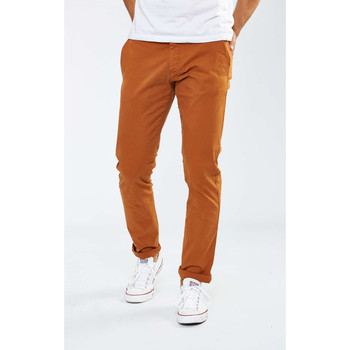 Vêtements Femme Chinos / Carrots Selected Pantalon Chino  Shhone Luca Slim Rouille Homme Bordeaux
