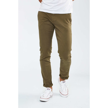 Vêtements Femme Chinos / Carrots Selected Pantalon Chino  Shhone Luca Slim Kaki Homme Kaki
