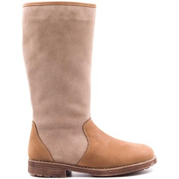 Chaussures Enfant Bottes ville Boni Classic Shoes Bottes en cuir fourrées laine de mouton - ABEY Marron