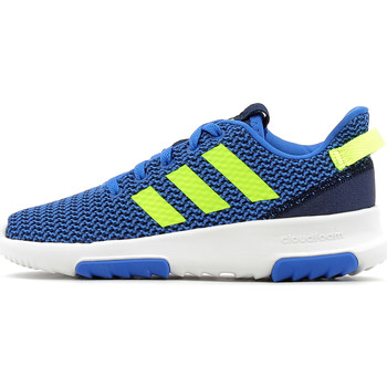 Chaussures Enfant Baskets basses adidas Performance Cloudfoam Racer TR Kid Blue / Solar Yellow / Navy / White