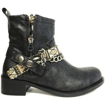 Chaussures Femme Bottines Cassis Côte D'azur Cassis cote d'azur Bottine Lithosy Noir Noir
