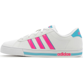 Chaussures Enfant Baskets basses adidas Performance Daily Team K Footwear White / Shock Pink / Energy Blue