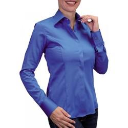 Vêtements Femme Chemises manches longues Andrew Mc Allister chemise mousquetaire new styl bleu Bleu