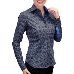 Vêtements Femme Chemises manches longues Andrew Mac Allister chemise imprimee dark noir Noir