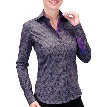 Vêtements Femme Chemises manches longues Andrew Mc Allister chemise imprimee dandy noir Noir