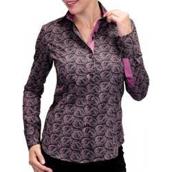 Vêtements Femme Chemises manches longues Andrew Mc Allister chemise imprimee dark noir Noir