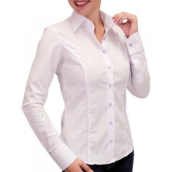 Vêtements Femme Chemises manches longues Andrew Mc Allister chemise pastel waterlily blanc Blanc