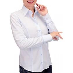 Vêtements Femme Chemises manches longues Andrew Mc Allister chemise pastel waterlily bleu Bleu