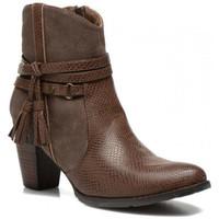 Chaussures Femme Bottines Kaporal Boots Femme Wilson Marron Fonce Brun