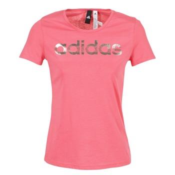 Vêtements Femme T-shirts manches courtes adidas Performance FOIL LINEAR Rose