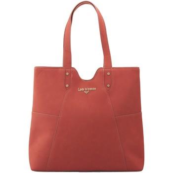 Sacs Femme Cabas / Sacs shopping LPB Woman LPB WOMAN CABAS PORTE EPAULE TERRACOTA W17B0301 Rose