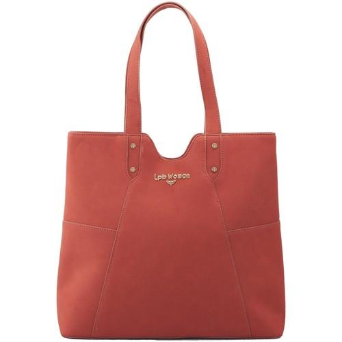 Sacs Femme Cabas / Sacs shopping Lpb Woman Maroquinerie LPB WOMAN CABAS PORTE EPAULE TERRACOTA W17B0301 Rose