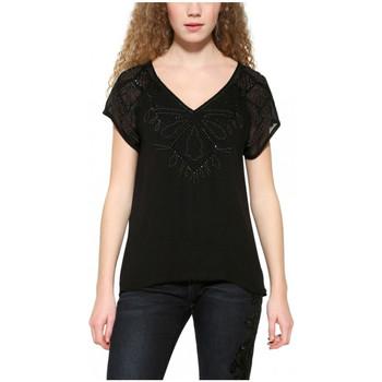 Vêtements Femme Tops / Blouses Desigual T-Shirt Femme Butterfly Noir 17WWBW28 38