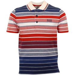 Vêtements Garçon Polos manches courtes HUGO Polo Hugo Boss Junior - Ref. J25A70-X58 Bleu