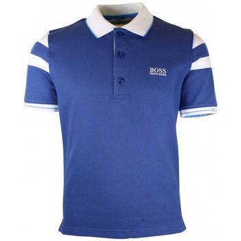 Vêtements Garçon Polos manches courtes Hugo Boss Junior Junior Polo Hugo Boss Junior - Ref. J25A66-81A Bleu