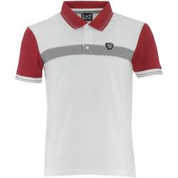 Vêtements Homme Polos manches courtes Emporio Armani EA7 Polo  - 3YPF72-PJ20Z-1100 Blanc