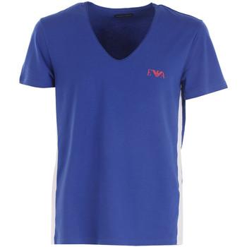 Vêtements Homme T-shirts manches courtes Emporio Armani EA7 Tee-shirt  V-Neck - Ref. 111417-7P510-40535 Bleu