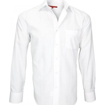 Vêtements Homme Chemises manches longues Andrew Mc Allister chemise tissu armuree business blanc Blanc