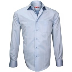 Vêtements Homme Chemises manches longues Andrew Mc Allister chemise tissu armuree business bleu Bleu