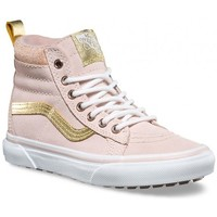 Chaussures Fille Baskets montantes Vans Chaussures  Y Sk8-Hi Mte - Sepia Rose / Metallic Rose