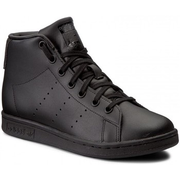 Chaussures Enfant Baskets montantes adidas Originals Stan Smith Mid J Cblackcblackcblack Noir