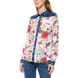 Vêtements Femme Chemises manches longues Desigual Chemise Bruselas Crudo Beige 17WWCW64 6887