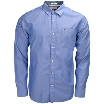 Vêtements Homme Chemises manches longues Tommy Hilfiger Chemise Tommy Hilfiger Dénim bleue à motif pour homme Bleu