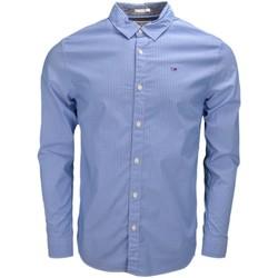 Vêtements Homme Chemises manches longues Tommy Hilfiger Chemise Tommy Hilfiger Dénim rayée bleu et blanche pour homme Bleu
