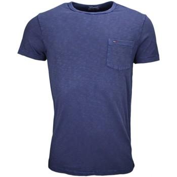 Vêtements Homme T-shirts manches courtes Tommy Hilfiger T-shirt col rond Tommy Hilfiger Dénim bleu marine pour homme Bleu