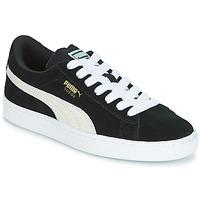 Chaussures Enfant Baskets basses Puma SUEDE JR Noir / Blanc