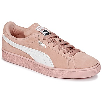 Chaussures Femme Baskets basses Puma SUEDE CLASSIC W'S Rose / Blanc